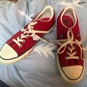 Red Wool converse shoes men's size 7